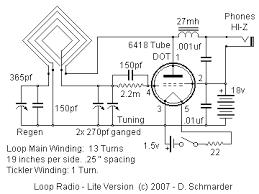 dave s homemade tube loop radio a sub mini tube in a loop radio schematic loop radio schematic lite version