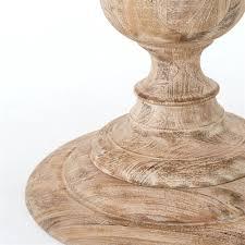 white washed mango wood. Magnolia Round Dining Table 48\ White Washed Mango Wood