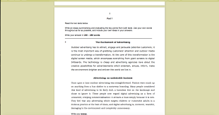 cpe sample writings cpe essay on advertising sample correction