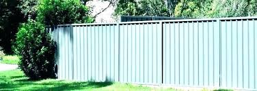 corrugated metal privacy fence simple