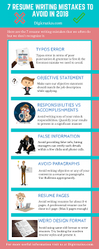 Writting A Modern Resume 7 Resume Writing Mistakes To Avoid In 2018 Infographic E Learning