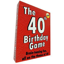 the 40th birthday game amusing little gift or present idea for anyone turning forty