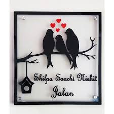 Acrylic Name Plate Design Made By Innovationz By Jasmin Shilpa Jalan Family Acrylic