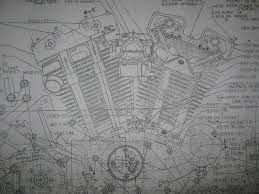 17 bästa bilder om harley davidson engine blueprint drawing print details about harley davidson xl sportster engine blueprint poster print showing parts drawing