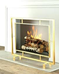 modern fireplace screen fireplace tools mid century log holder modern fireplace screens glass black modern