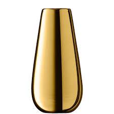 lsa flower metallic bud vase gold height 14cm