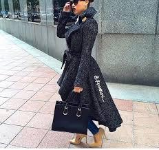 coat long coat belted coat haute couture winter coat grey trench coat trendy high low dress