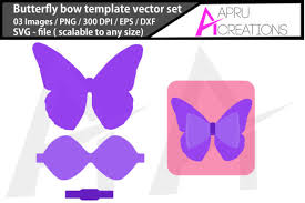 Svg, png, dxf & eps files in a zipped folder. Butterfly Bow Template Graphic By Aparnastjp Creative Fabrica
