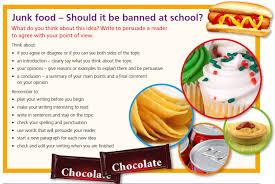 essay junk food in schools