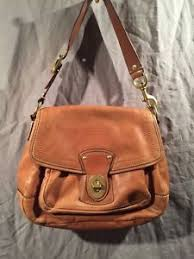 Image is loading COACH-LEGACY-ALI-Hobo-Larger-Flap-Brown-Leather-