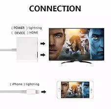 Cáp chuyển đổi từ LIGHTNING TO HDMI kết nối điện thoại Iphone ipad với tivi  Full HD 1080P (LOẠI TRẮNG TỐT) dây kết nối