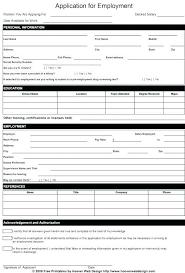 Pre Employment Application Template Job Application Template Free Printable Employment Entry Form