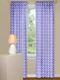 Geometric Patterned Curtains Retro Curtain Panels In Purple