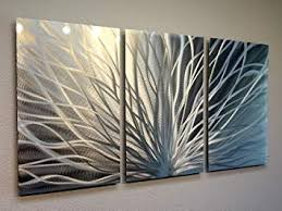 abstract metal wall art. Metal Wall Art, Modern Home Decor, Abstract Sculpture Contemporary- Radiant Silver ( Art E