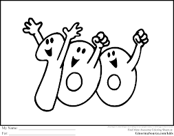 100 Day Coloring Pages C