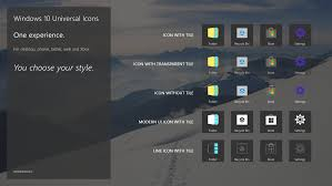 Designed For Windows 10 Third Party Designer Proposes Universal Icons For Windows 10