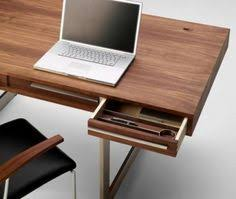 wood office desk furniture. BlueLounge Have Designed A Minimalist StudioDesk For Laptop Users. All Peripherals And Excess Cables Are Hidden Just Under The Sliding Desktop Surf\u2026 Wood Office Desk Furniture