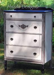 antique white chalk paintShizzle Design  Vintage Highboy Dresser in Old White Chalk Paint
