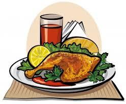 plate of food with chicken clipart. Modren Chicken With Plate Of Food Chicken Clipart O