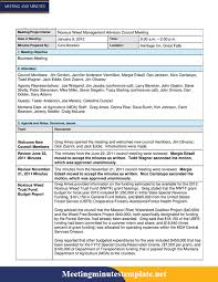 Office Meeting Minutes Meeting Minutes Template