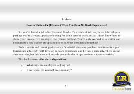 Reading Layout] Vlad Mackevic How To Write A Cv With Little Or No Cool Resume Preface