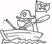 Piratenvlag Kleurplaat