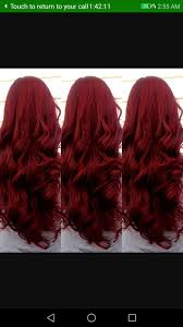 Hair Color Astounding Different Shades Of Red Hair Color