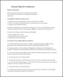 Resume Objective Ideas Resumes Objectives And 9 General Resume