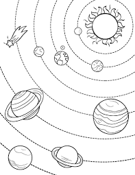 Free Solar System Coloring Page