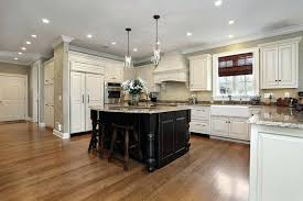 kitchen floor cabinets. Kitchen Floor Lighting. White Cabinets Oak Wood Floors With And Black Cabinet Island Granite