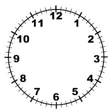 Clock With Minute Lines Free Printable Template Download