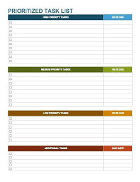 Project To Do List Excel Project To Do List Template