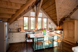 Attic Kitchen Adorable Rustic Kitchen Decor Wooden Attic Ceiling Dark Hardwood
