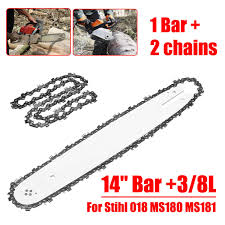 <b>2pcs</b>/set 14 <b>Inch Chainsaw</b> Saw Chain Drive Link Pitch 52 Link 3 ...