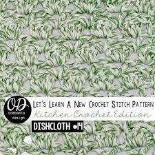 Sultan Stitch Tutorial and Free Pattern | Dishcloth crochet pattern, Diy  crochet stitches, Different crochet stitches