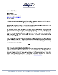 Amac Press Release Announcing Chermaina Roundtree Amac