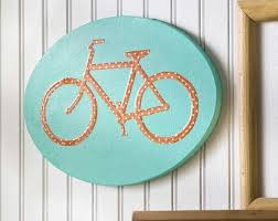 diy bicycle canvas art for your wall