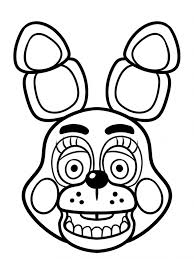 Spring Bonnie Coloring Pages Printable Coloring Page For Kids