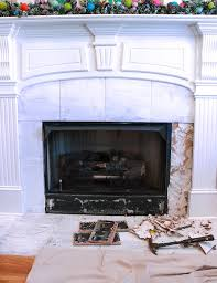 How to Remove Fireplace Tiles - Chaotically Creative