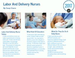 Labor And Delivery Nurse By Casey Charon Infographic