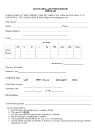 sle credit card authorization form template onwe bioinnovate co for air ticket sle 5
