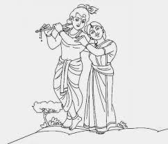 Krishna Simple Drawing Chhota Bheem And Krishna Coloring Page ...