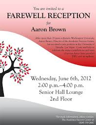 Retirement Luncheon Invitation Template Farewell Party Poster Flyer