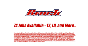 paint helper leadman scaffold appice all levels in louisiana texas more brock began as the service painting company of beaumont in 1947