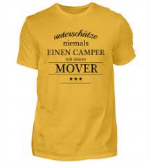 Herren Basic Shirt Spruch Sprüche Camper Camping Campen Tshirt