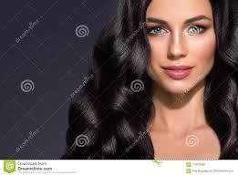 Beau Portrait De Beauté De Femme De Cheveux Noirs Fe