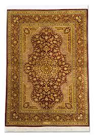 magnificent persian carpet silk rug from qum