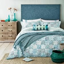 Jade Green Bedding Verona Tile Patterned Bed Linen at .