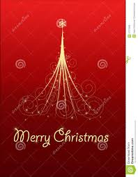 Christmas Card Picture Christmas Card With Christmas Tree Royalty Free Stock Photos