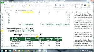 Debt Payoff Excel Credit Card Debt Calculator Excel Snowball Debt Calculator Excel
